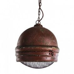 Stoer & Industrieel - PTMD Valenso hanging lamp red l