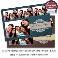 elegant paisley 4 up strips photo booth templates an elegant photo
