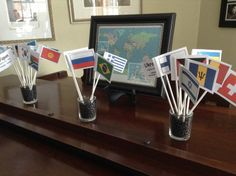 This is how we used our Olympic Country book. Flags with the name, Capitol, and language on the back. We are ready for the Olympics. Thank you Knowledge Quest. Get your free Olympic Country Book here - https://fs168.infusionsoft.com/app/page/olympic-country-book