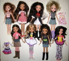 8 Moxie Girlz Girls Doll Lot 10 Inch MGA 2009 Outfits Clothes Clothing Boots Shoes $24