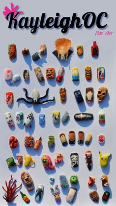 Nail Art Collection by ~KayleighOC on deviantART