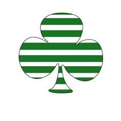 Striped shamrock for St(riped) Patrick's Day