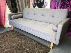 Taylor 3 Seater Sofa Bed In Grey Fabric With Bolster Cushions Delivery Available In Cheadle Manchester Gumtree With Images 3 Seater Sofa Bed Seater Sofa 3 Seater Sofa