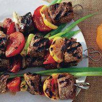 Grilled Beef, Tomato and Lemon Kebabs  http://www.rachaelraymag.com/Recipes/rachael-ray-magazine-recipe-search/dinner-recipes/grilled-beef--tomato-and-lemon-kebabs