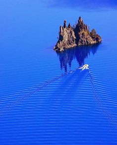 Amazing never ending blue in Crater Lake National Park, Oregon.