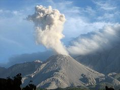 Santa Maria volcano in western Guatemala