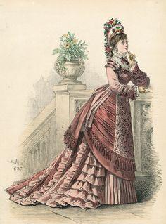 May fashion, 1875 France, L'Élégance Parisienne