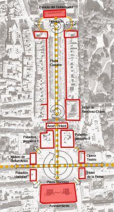 Urban Networks: Articulación y Yuxtaposición urbanas: Los ejemplos de Nancy y de Nueva York (1. Las plazas de Nancy).