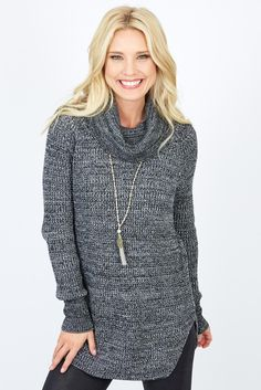 Our Allison Joy Cannon Tweed Sweater is the turtle-neck you can wear anywhere. Perfectly classic and neutral, this sweater couldn't get better. #Evereve #MomStyle