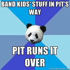 Front Ensemble Problems  pit running over color guard flags and ripping flags color guard problems