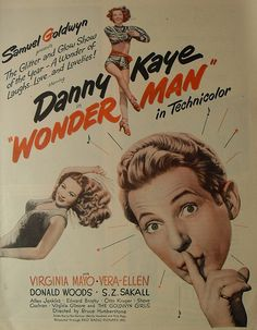 Wonder Man -  One of the best Danny Kaye movies in my opinion! This is my favorite movie of all times, and I have it!!!