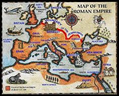 Ancient Rome, Greece Empire Map Labeled | And any discussion of the Roman Empire would be incomplete without ...