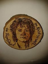THE HOBBIT BILBO BAGGINS QUOTE PYROGRAPHED WOODEN WALL PLAQUE.