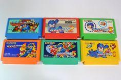 FC Rockman 1 2 3 4 5 6 Set Mega Man Capcom Nintendo Famicom NES Japan JP #1