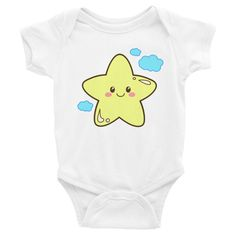 Star Onesie, Shirts, matching family outfits - Winky Shiba Co. Early Literacy, Matching Family Outfits, Perfect Photo, Stars And Moon, Baby Bodysuit, Onesies, Infant, Shiba, Cute