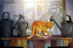 entre regaderas, ilustración de Kim Galina