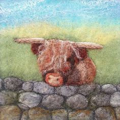 Aileen Clarke - she does awesome needle felted pictures!