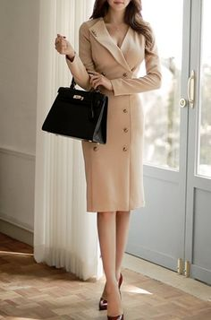 Sexy Plunging Neck Long Sleeves Button Design Bodycon Dress For Women