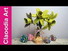 Żonkile i narcyzy z papierowej wikliny (daffodils and narcissi, paper wicker) - YouTube