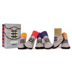 Pack 6 calcetines niño Trumpette Oliver´s. Calcetines que parecen zapatos. Regalos #gemelos #mellizos 24,95 € en #petittandem.com