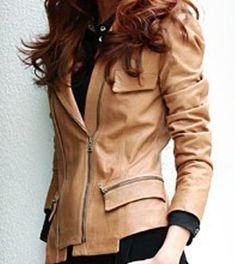 Leather Long Sleeve Short Slim Jacket