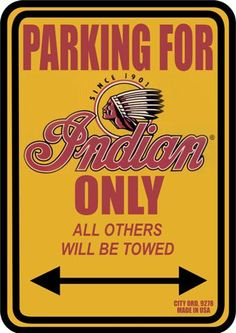9278 - MOTORCYCLE - INDIAN - PARKING ONLY - Indian - City ord. 9
