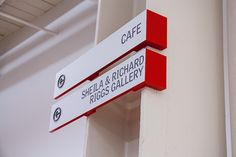Directional signs at MICA - Maryland Institute College of Art, USA by Ashton Design