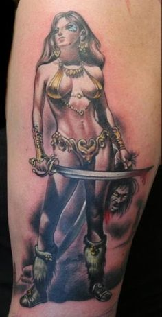 Warrior woman by lupe
