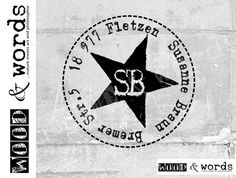 Address stamp personalized Star II round as postmark address stamp, family stamp, custom wood stamp, gift Superhero, Etsy, Words, Fictional Characters, Art, Philosophy, Purchase Order, Stamping, Names