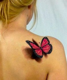 Tatouage papillon : Top 100 des tattoos papillon pour femme - 100 adorables tatouages papillon www. Butterfly Tattoo Meaning, Butterfly Tattoo Designs, Tattoo Designs For Women, Tattoos For Women, Realistic Butterfly Tattoo, Purple Butterfly Tattoo, Bad Tattoos, Future Tattoos, Body Art Tattoos