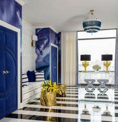 Riverside Penthouse - contemporary - Entry - Little Rock - Tobi Fairley Interior Design Foyer Design, House Design, Decoracion Vintage Chic, Entrance Foyer, Living Spaces, Living Room, Piece A Vivre, Interior Decorating, Interior Design