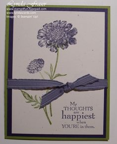 stampin up field flowers - Google Search