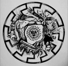 Viking Compass Tattoo, Viking Warrior Tattoos, Celtic Knot Tattoo, Norse Tattoo, Heidnisches Tattoo, Rabe Tattoo, New Tattoos, Sketch Tattoo Design, Tattoo Sleeve Designs