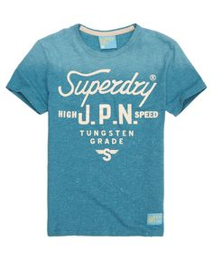 Mens - Tungsten T-shirt in Grit Sky | Superdry