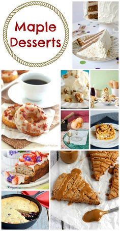 Maple Desserts Perfect for Canada Day - Moms & Munchkins Yummy Treats, Delicious Desserts, Sweet Treats, Dessert Recipes, Holiday Desserts, Holiday Recipes, Holiday Fun, Canadian Food, Canadian Recipes