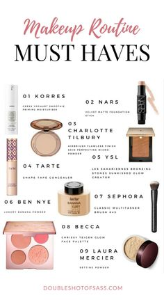 Make Up Routine Must Haves - Double Shot of Sass Makeup Swatches, Makeup Dupes, Makeup Brands, Best Makeup Products, Beauty Makeup, Face Products, Makeup Tricks, Makeup Brushes, Beauty Products