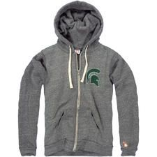 MSU SPARTAN HELMET FLEECE ZIP-UP