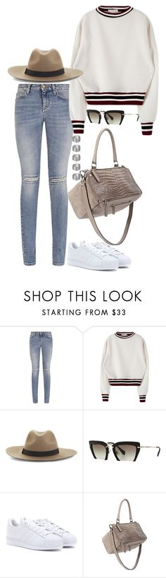 """""""Untitled #1360"""" by samikayy76 ❤ liked on Polyvore featuring Yves Saint Laurent, BCBGMAXAZRIA, Miu Miu, adidas Originals, Givenchy and Topshop"""
