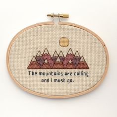 The mountains are calling and j must go