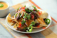carne asada nachos | www.foodnessgracious.com