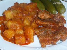 Bravčové zo zemiakmi z jedného hrnca (fotorecept)