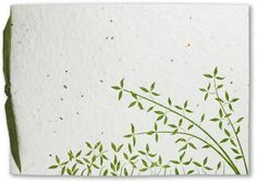 Wedding Invitations that are tree-free handmade paper with seeds embedded, so after the wedding, you plant the invite!