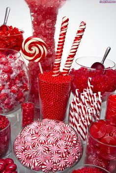 candies in - RED ....hmmmm great for Christmas or Valentine's !