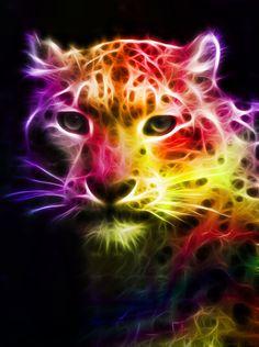 Fractal Snow Leopard by minimoo64 on @deviantART
