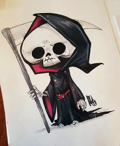 melmade the blog (the one I update ) Graffiti Art Drawings, Images Graffiti, Copic Drawings, Cute Drawings, Cartoon Sketches, Art Sketches, Reaper Drawing, Desenhos Halloween, Arte Emo