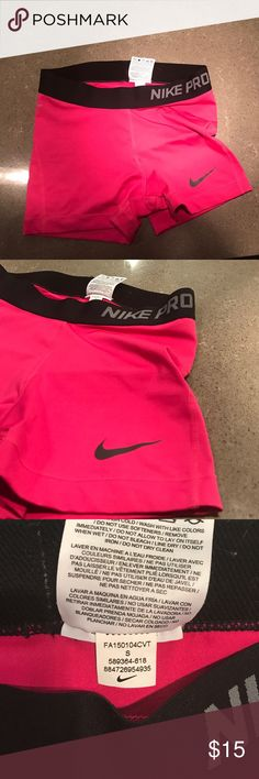 """Nike Women's Pro Core 3"""" Compression Shorts VERY lightly used (no more than once). Simply too small for me! Tight fitting, as they're supposed to be, but too tight for my comfort. Dri-Fit material. Nike Shorts"""