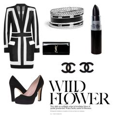 """Sem título #10"" by annabeatrizz ❤ liked on Polyvore featuring Balmain, Kate Spade, Yves Saint Laurent and GUESS"