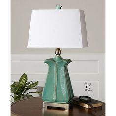 Uttermost Calciano Teal Table Lamp 26487