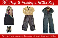 30 Days to Packing a Better Bag – Day 10:  Accessorize, Mix