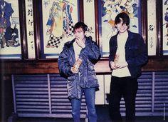 Alex James and Damon Albarn
